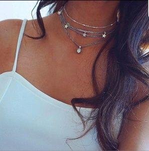 Boutique | Opal Star Layered Choker